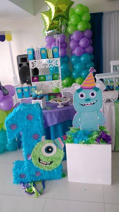 Baby Shower Boy Theme Monsters Inc 47 Ideas – Baby Shower İdeas 2020 Monster 1st Birthdays, Monster Inc Party, Monster Birthday Parties, First Birthdays, Monster University Party, Boys First Birthday Party Ideas, Birthday Themes For Boys, 1st Boy Birthday, Birthday Party Themes
