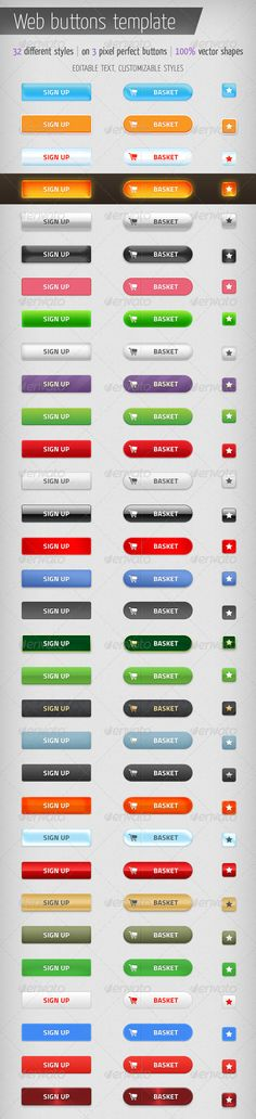 Web Buttons Template