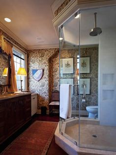 Master bath, Sagee Manor, Highlands, North Carolina.