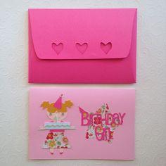 Birthday girl card Κάρτα γενεθλίων Girl Birthday