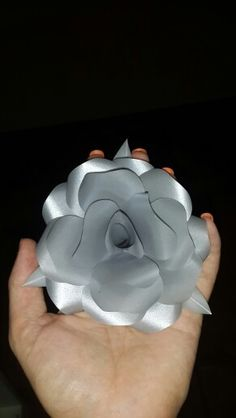 Silver paper rose