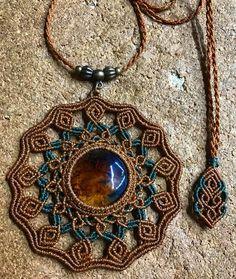 macrame mandala pendant with gemstone, bohemian macrame pendant Collar Macrame, Macrame Colar, Macrame Rings, Macrame Art, Macrame Necklace, Macrame Knots, Macrame Jewelry, Fabric Jewelry, Macrame Bracelets