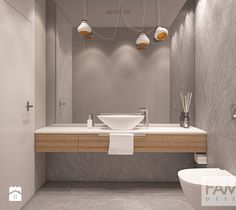 DOM W PUŁAWACH - Łazienka, styl minimalistyczny - zdjęcie od FAMM DESIGN