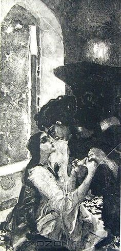 Mikhail Vrubel, The Demon and Tamara.