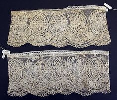 Cuffs  Date: 19th century Culture: Belgian Medium: silk