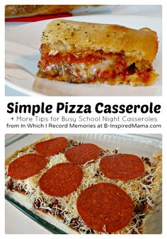 An easy recipe for yummy Pizza Casserole make school nights simple! + tips and tricks for more easy casseroles using Country Crock® Spread!