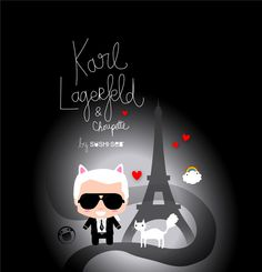 Karl Lagerfeld & Choupette by SUSHISEB