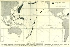 Ocean depth map, 1934