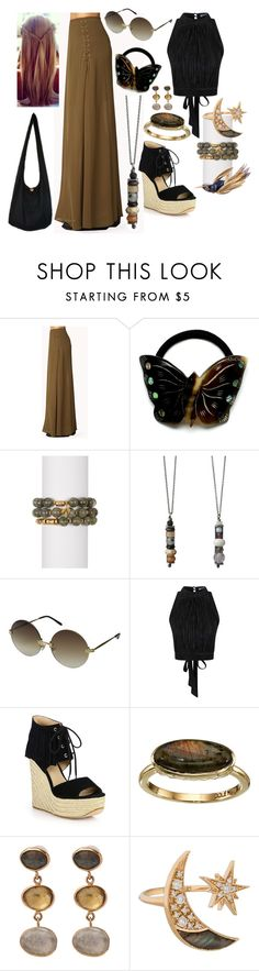 """Down To Earth Bohemian Chic"" by j123z ❤ liked on Polyvore featuring Forever 21, Lucky Star Jewels, Wildfox, Topshop, Ash, Cole Haan, Melissa Joy Manning and Maiyet"
