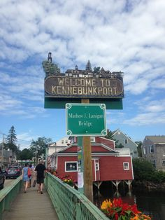 Kennebunkport, Maine.  Went through town a few years ago in search of the Bush Compound.  He was here because the Texas flag was up!