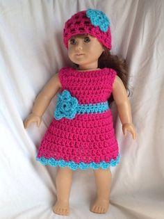 doll dress and hat von DalilasCloset auf Etsy