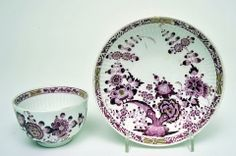 Tea Bowl and Saucer, c.1750    Tea Bowl and Saucer, c.1750  Hard paste porcelain, coloured enamels and gilt  German, Meissen  Mark: crossed swords  Tea Bowl: Height - 5 cm; Saucer: Diameter - 13.2 cm.