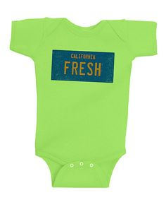 Yo homes, smell ya later!  Take a look at this Key Lime 'California Fresh' Bodysuit - Infant by American Classics on #zulily today!