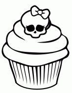 monster high color sheets printable free | Pretty Cupcake Coloring Page | Free Printable Coloring Pages