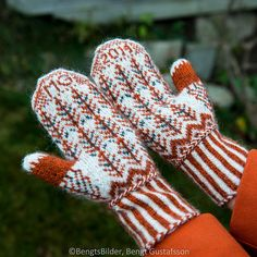 Ravelry: mariag's Fox in the Snow Mittens