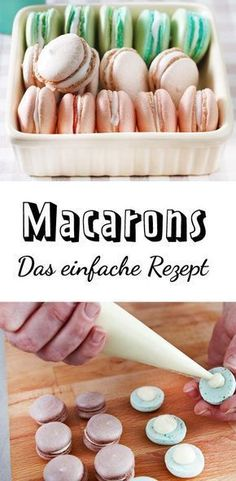 Macarons - the recipe for colorful sweets - biscuits & pastries . - Macarons – the recipe for colorful sweets – cookies & pastries cake - Cookie Recipes, Keto Recipes, Dessert Recipes, Sweets Recipe, Recipe Tasty, Frosting Recipes, Cupcake Recipes, Macaron Nutella, A Food