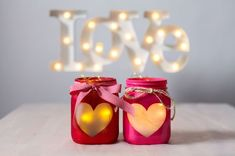 Elegante Cute DIY Valentine Crafts for all Ages Valentine's Day: Cute Valentine Crafts. Valentines Day Activities, Valentine Day Crafts, Valentine Decorations, Valentine Ideas, Candle Decorations, Pot Mason Diy, Mason Jar Crafts, Bottle Crafts, Mason Jar Lanterns