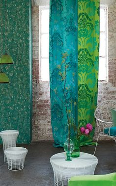 Love the colors! Designers Guild available through wwwjanehalldesign.com pattern Kashgar