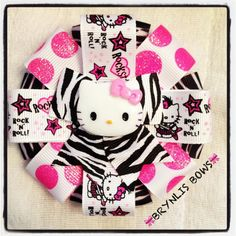 Kitty Hair bow made by Brynlis Bows