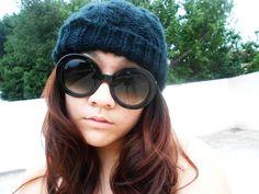 Designer Inspired Round Fashion Sunglasses w/ Baroque Swirl Arms 8410
