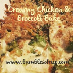 Creamy Chicken and Broccoli Bake - Bumbles of Rice Chicken Broccoli Bake, Cooked Chicken Recipes, Turkey Recipes, How To Cook Chicken, Tinned Soup, Most Popular Recipes, Wonderful Recipe, Baked Beans, Creamy Chicken