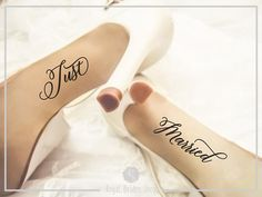 Check out this item in my Etsy shop https://www.etsy.com/uk/listing/565993301/just-married-wedding-shoes-decal-shoes