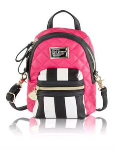 Betsey Johnson Mini Convertible Crossbody Backpack - Fuschia | Clothing, Shoes & Accessories, Women's Handbags & Bags, Handbags & Purses | eBay!