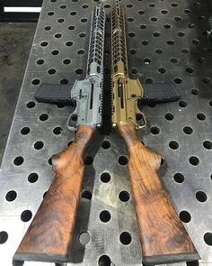 ARES Defense SCR rifles-customised. Not sure about the chrome and high polish... I would be happier with blued finish with faux case hardening as an accent.