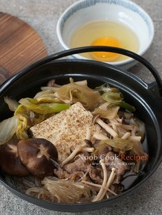 """Sukiyaki - Japanese beef nabemono (hot pot) Recently, I have been hooked on cooking Japanese, largely because I was inspired by Cooking with Dog, a cooking channel on YouTube. The tagline of the show reads """"It's not what you think"""" - i.e. it's not cooking with dog meat, but cooking with a dog as"""