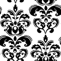 Creative Cuts Damask Canvas Fabric By The Yard, White