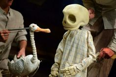 "Puppets from a UK adaptation of ""Duck, Death & The Tulip"" playing through June 28, 2014 in London."