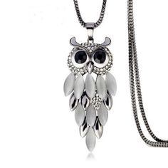 Gufo Scala - #Owl CZ #Diamond  Gold / Silver #LongChainNecklace #LaMiaCara