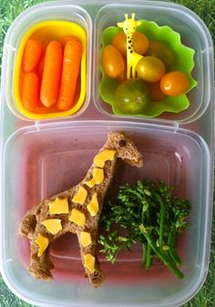 Giraffe with cheese!