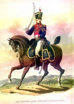 english officer of 9th Light Dragoons