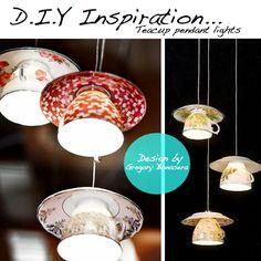 How to Make a Teacup Chandelier DIY | DIY for Life