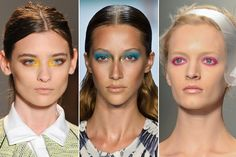 From Donna Karan and Michael Kors to Kate Spade and Lela Rose, statement shadow made eyes pop across the Spring 2013 runways during New York Fashion Week.    Natural, barely-there makeup looks, buff nails, nude lips and breezy loose waves were co