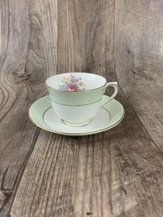 Vintage Pale Green Teacup Royal Vale Vintage Tea Cup Vintage Gifts, Etsy Vintage, Vintage Shops, Vintage Teacups, Old World Christmas Ornaments, Ceramic Christmas Trees, French Home Decor, Oil Lamps, French Antiques