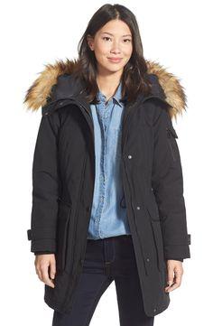 Calvin Klein Faux-Fur-Trim Puffer Down Jacket - Coats - Women ...