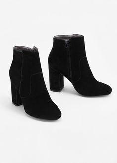 Women's Heels - - Velvet heel ankle boot - Shoes for Woman Velvet Ankle Boots, Thigh High Boots Heels, Heeled Boots, Shoe Boots, Women's Boots, High Heels, Black Velvet Boots, Calf Boots, Designer Boots