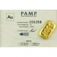 PAMP Credit Suisse 100 Gr (3.22 Oz) Gold Bar -With Certificate of Authenticity. Unsealed-  $50.00