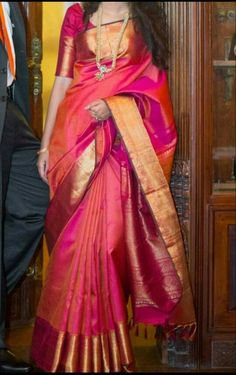 You searched for kanchipuram saree - Online Sale India Indian Silk Sarees, Soft Silk Sarees, South Indian Sarees, Pink Saree Silk, Silk Sarees With Price, Indian Dresses, Indian Outfits, Indische Sarees, Bridal Silk Saree