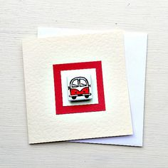 Campervan Card Red, Combi, Splitscreen, VW, Birthday Card, Greeting Card, Blank Card, Magnet Card, Childrens Card Cellophane Wrap, Plastic Waste, Blank Cards, Campervan, Girl Gifts, More Fun, Vw, Birthday Cards, Cool Designs