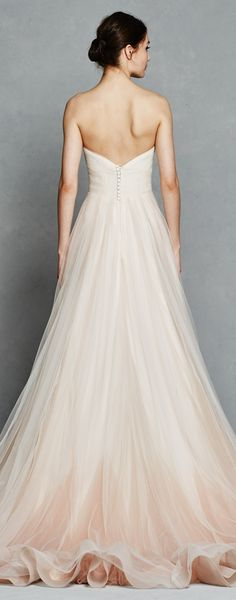Blush ombre wedding dress by Kelly Featanini