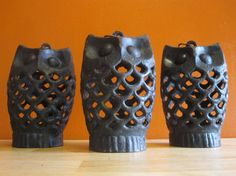 Vintage Cast Iron OWL Lantern by LuckySevenVintage on Etsy, $40.00 EACH, three available.
