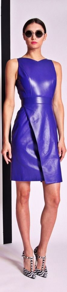 Leather outfit in beautiful Royal blue!