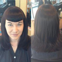 Bettie Bangs by Amber! #hair #bangs #pinup