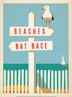 Beaches vs. Rat Race Prints by Anderson Design Group at AllPosters.com