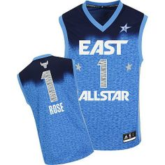 Derrick Rose jersey-Buy 100% official Adidas Derrick Rose Men's Authentic 2012 All Star Blue Jersey NBA Chicago Bulls #1 Free Shipping.