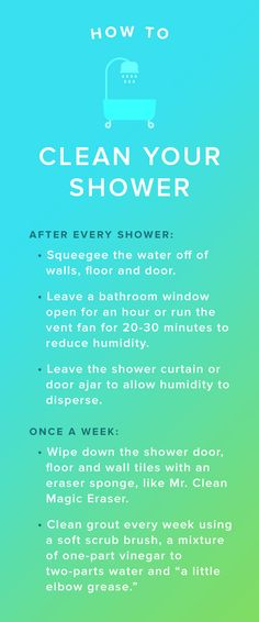 Eliminate shower scum and grout by following these easy steps at least once a week.