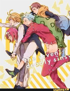 The seven Deadly Sins. Gowter, Meliodas, Ban and King Got Anime, Manga Anime, Anime Art, Seven Deadly Sins Anime, 7 Deadly Sins, Nisekoi, Seven Deady Sins, 7 Sins, The Seven